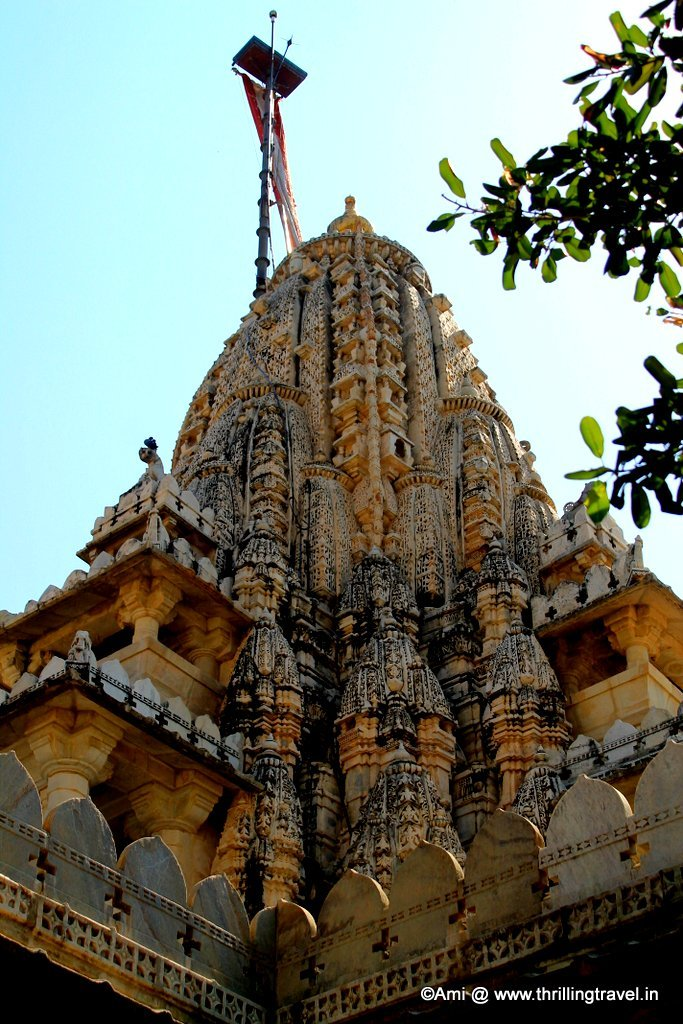 One of the domes of the Ranakpur Jain Temple