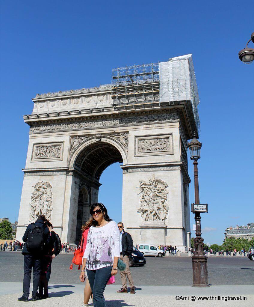 Me against the Arc de Triomphe in Paris