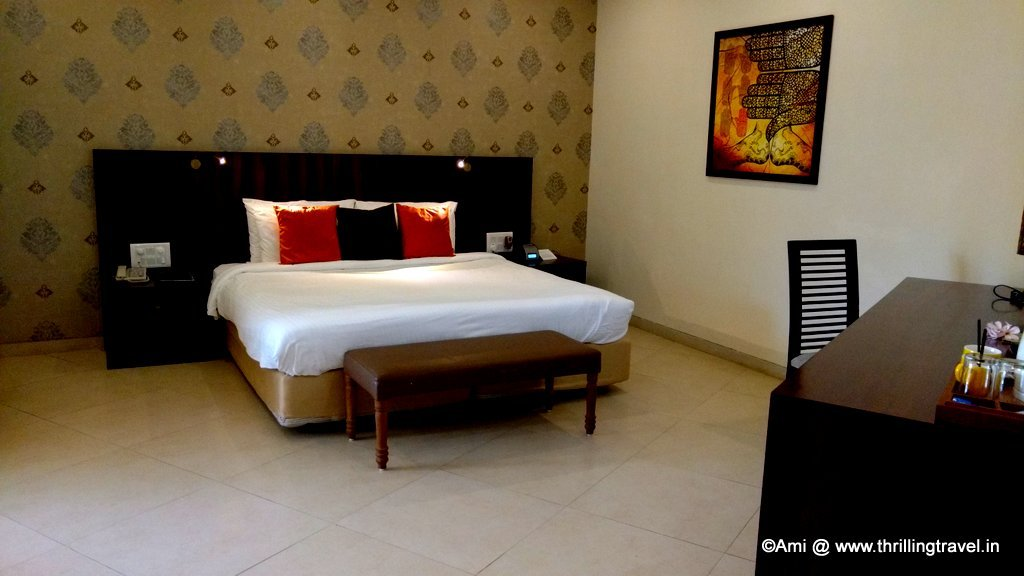 Triple Occupancy room that we had booked at U Tropicana Resort, Alibaug