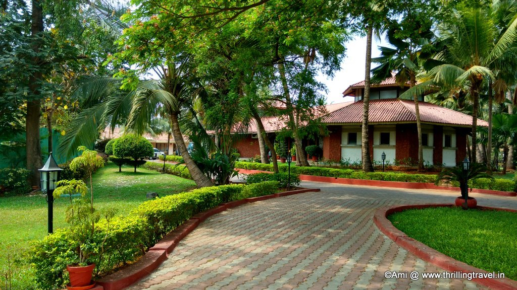 Reception building at U Tropicana Resort, Alibaug