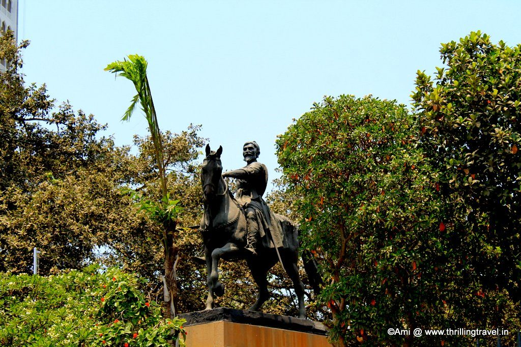 Chhatrapati Shivaji's statue near Gateway of India
