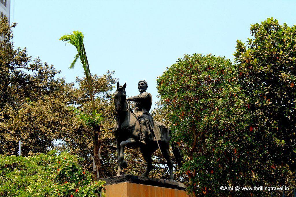 Chhatrapati Shivaji's statue near Gateway of India