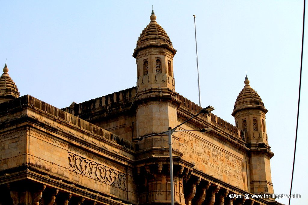 Inscription on the Gateway of India