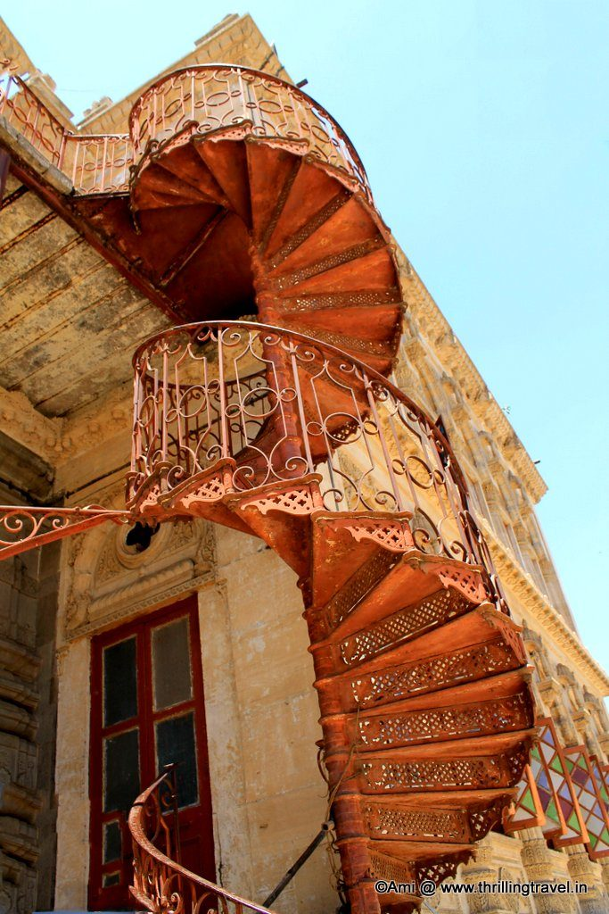 Spiral staircase of Shinde Chhatri, Pune