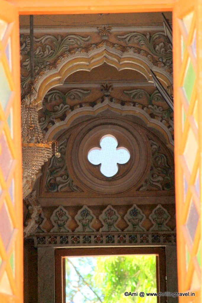 Interiors of Shinde Chhatri, Pune