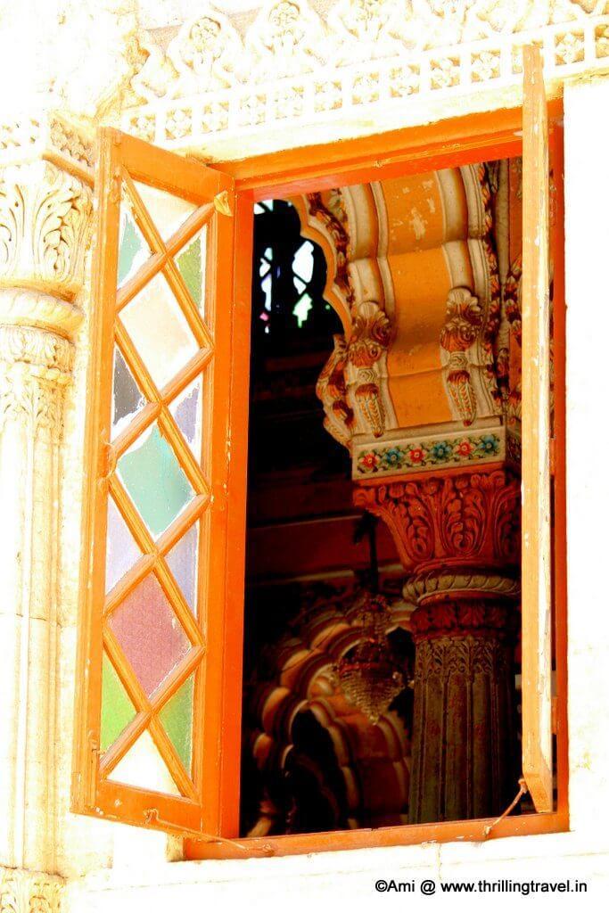 Glimpse of the interiors of Shinde Chhatri, Pune