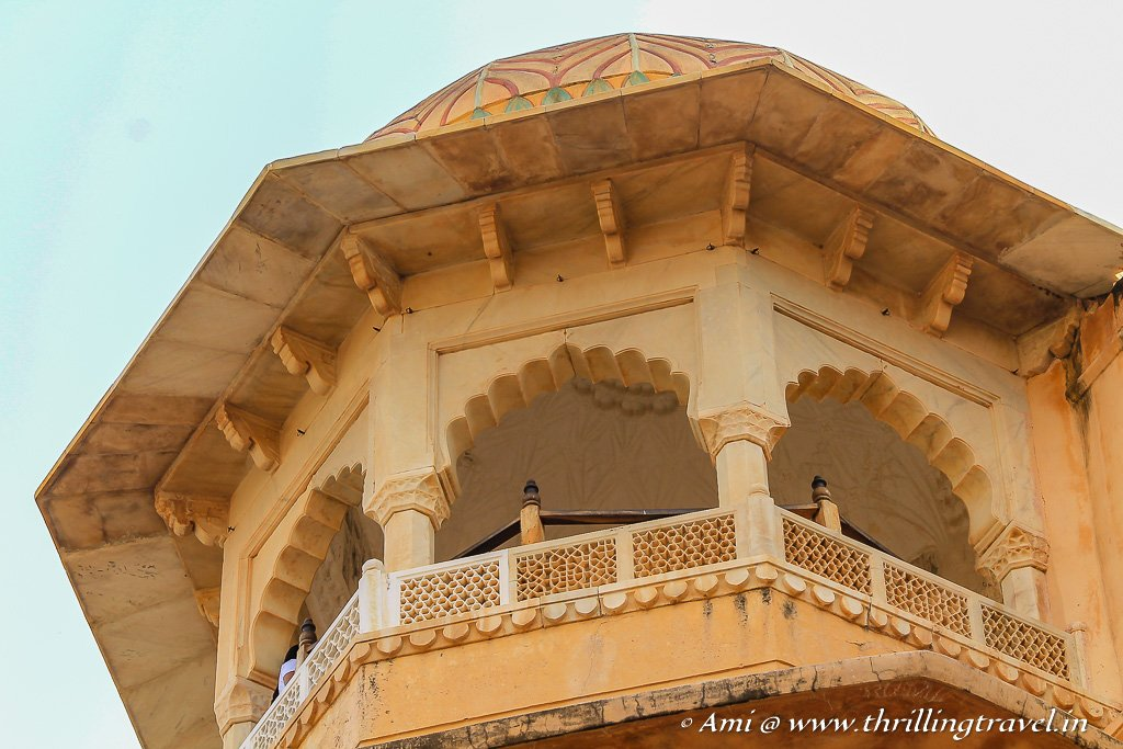 One of the watchtowers of Amer Fort