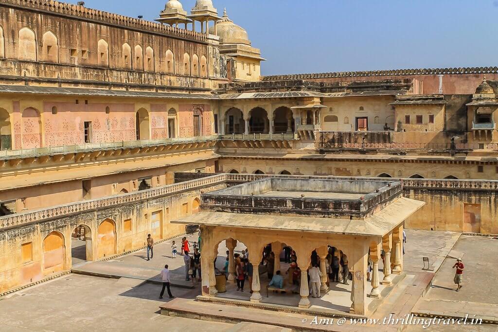 Bardari Mandir at the Zenana Quarters of Amer Fort