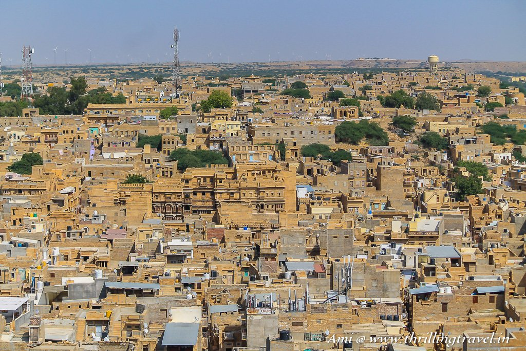 Bird's Eye view of Jaisalmer City