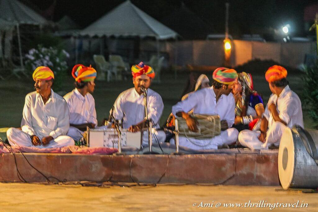 Cultural Show at the Jaisalmer Desert Camp