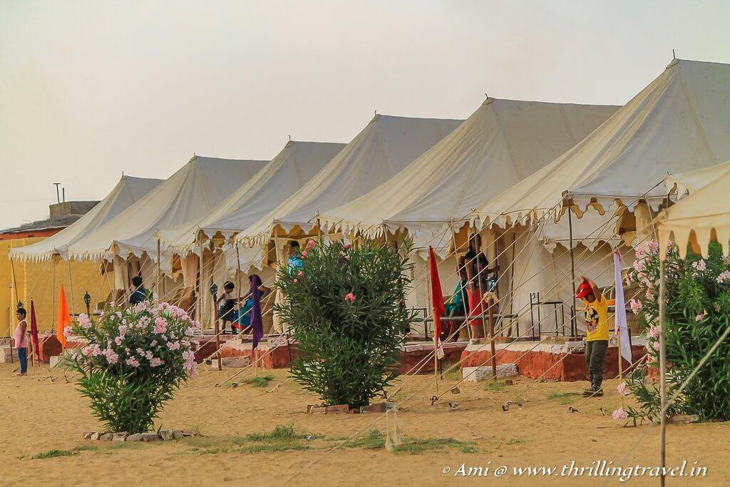 Our desert camp in Jaisalmer