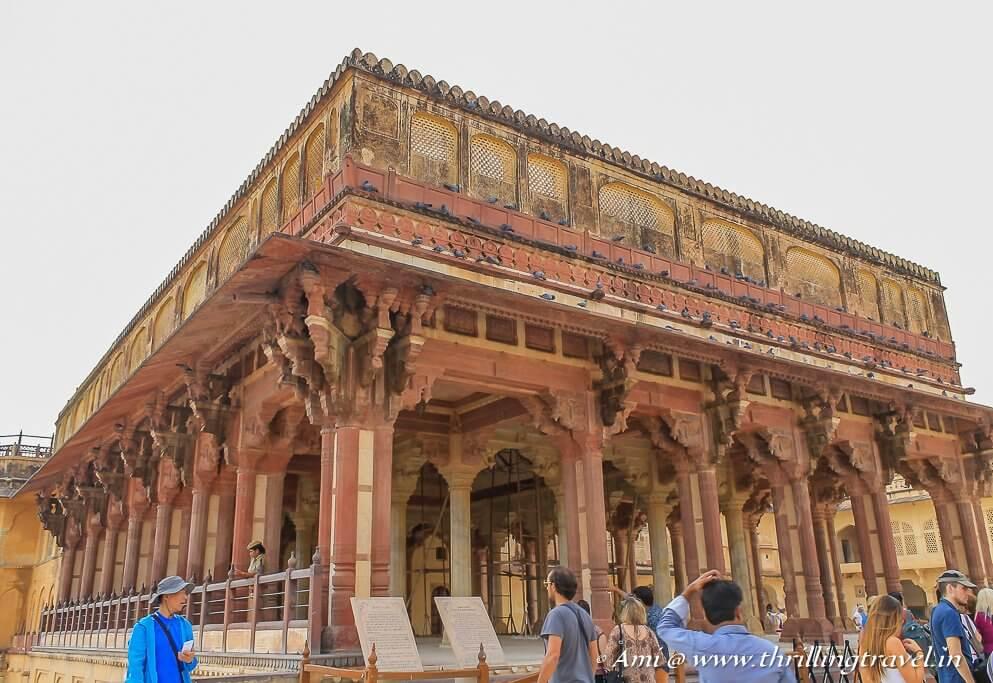 The Diwan-e-Aam in the 2nd courtyard of Amer ka Kila