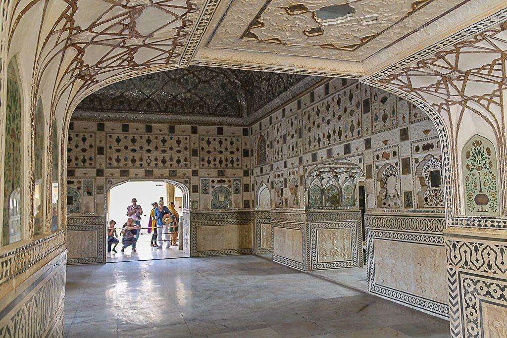 The Sheesh Mahal inside Amber Fort of Jaipur