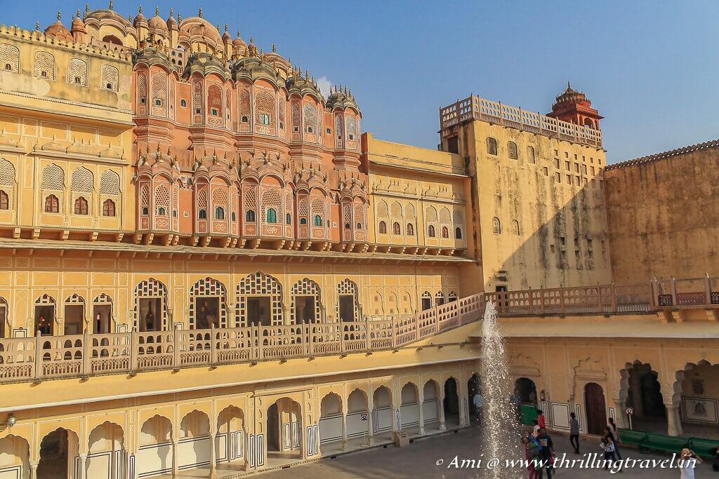 Sharad Mandir as seen from the first floor of Hawa Mahal Jaipur