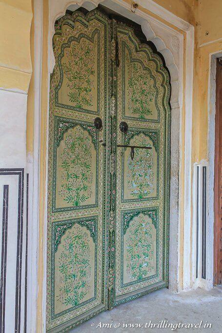 Some artistic doors of Jaipur Hawa Mahal