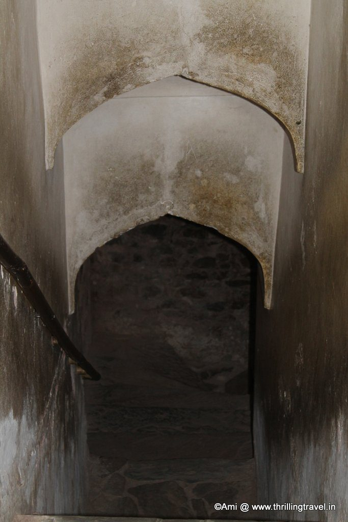 Secret tunnel to Jaigarh fort from Amer Fort