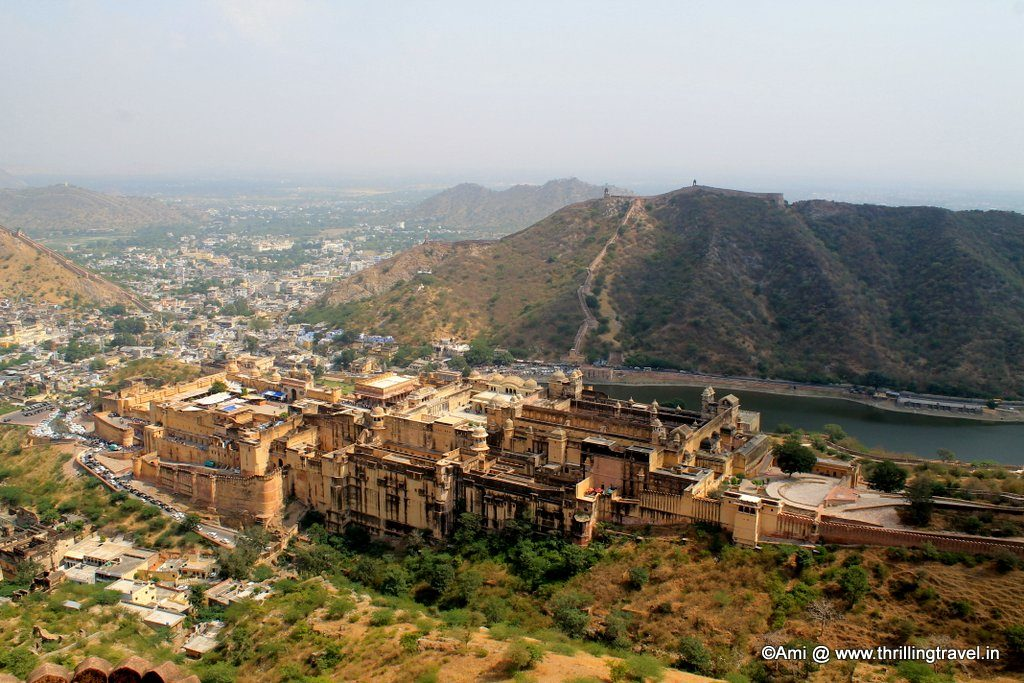 View of Amer Fort from Jaigarh Fort
