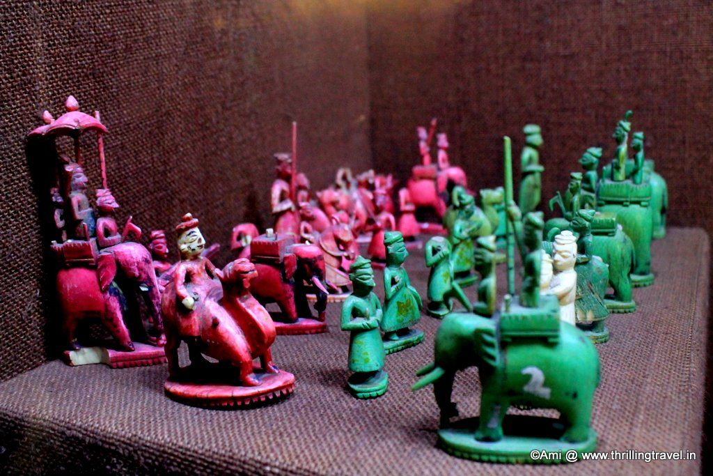 Unique Chess Pawns at Kelkar Museum