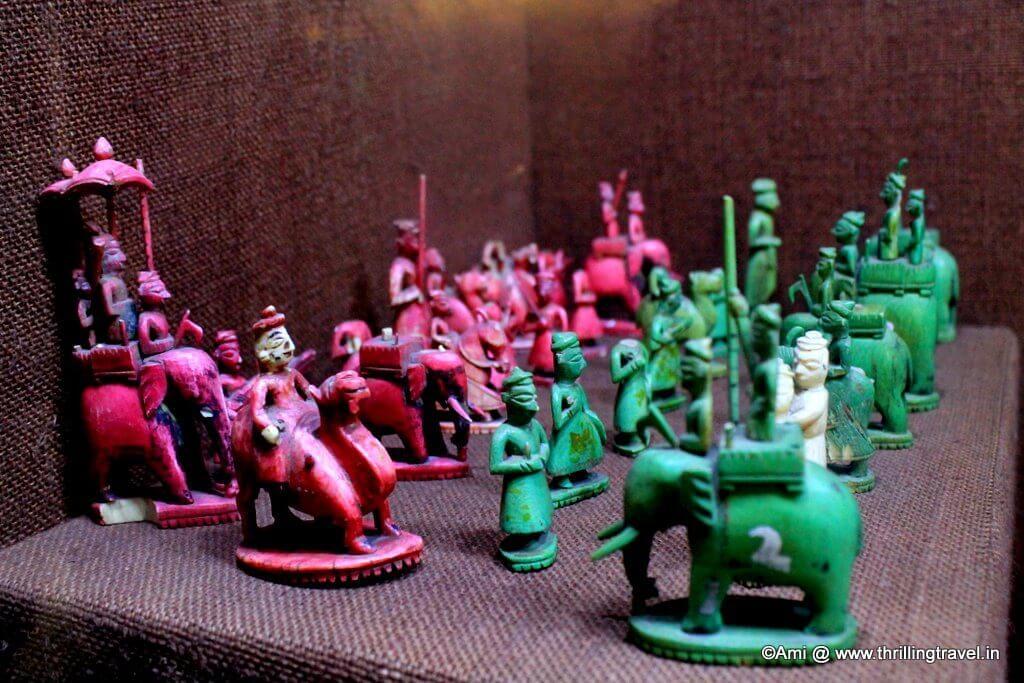 Unique Chess Pawns at Kelkar Museum