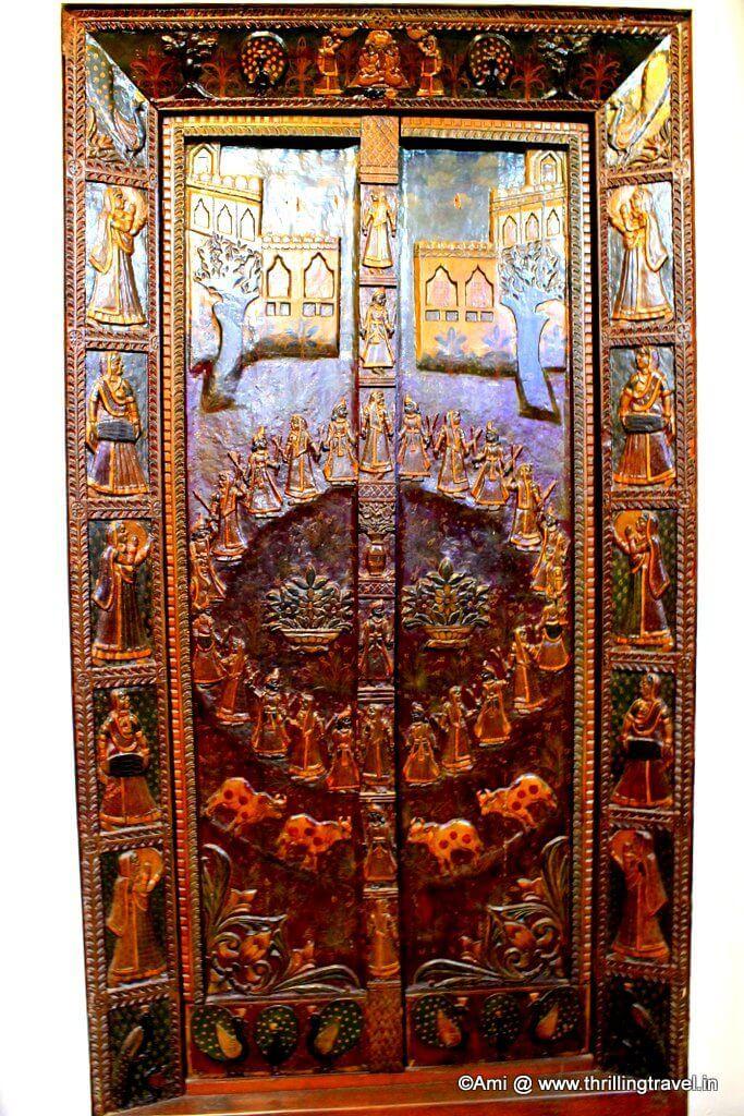 The Ras Leela door at Kelkar Museum