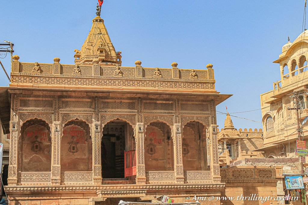 Jain Temple opposite the Palace in Jaisalmer Fort