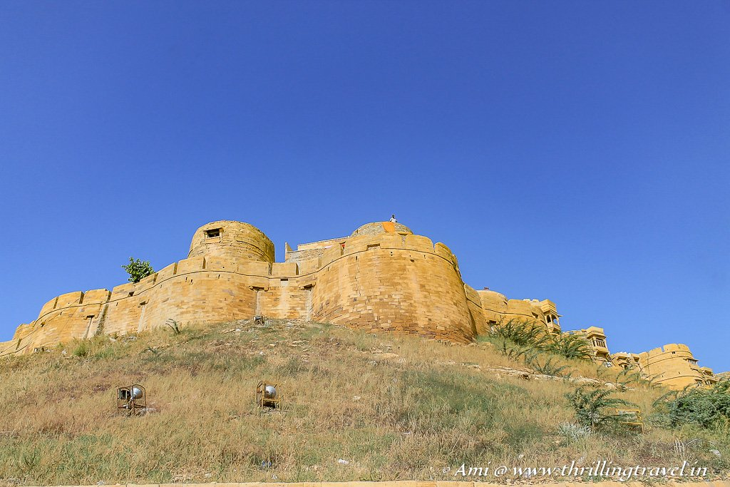 The Rocky outcrop where the famous Jaisalmer attractions - the Golden Fort is built