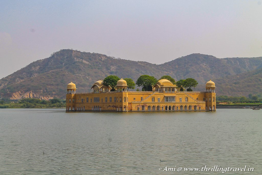 Jal Mahal - the water palace as seen enroute to Amer Fort Jaipur