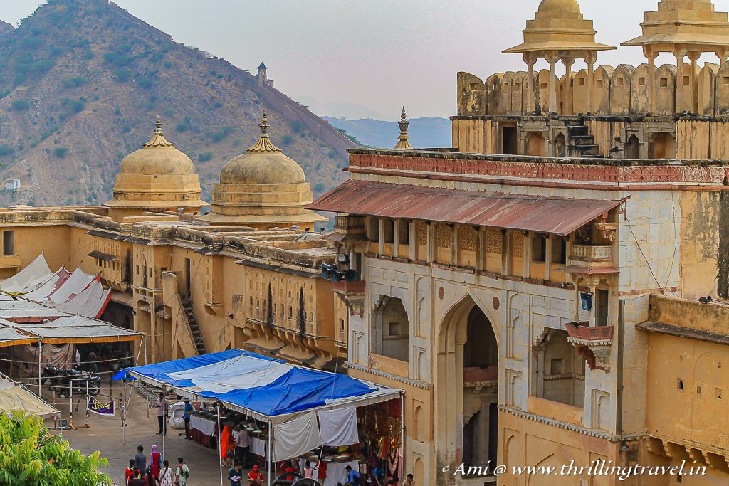 Jaleb Chowk as seen from the 2nd courtyard of Jaipur fort of Amer