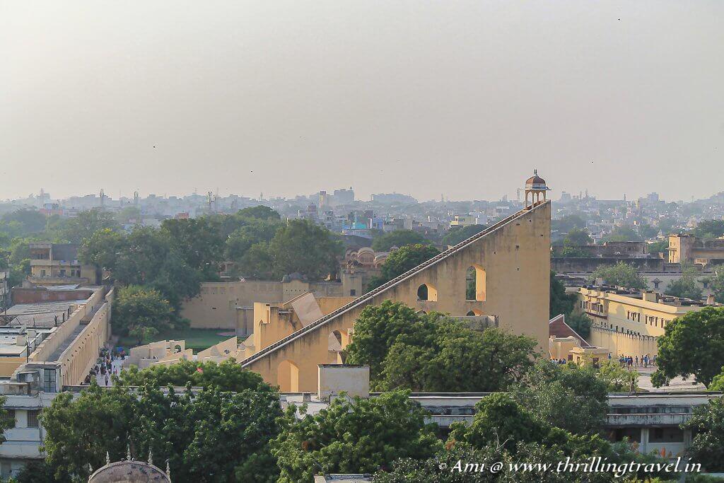View of the city and Jantar Mantar from Hawa Mandir