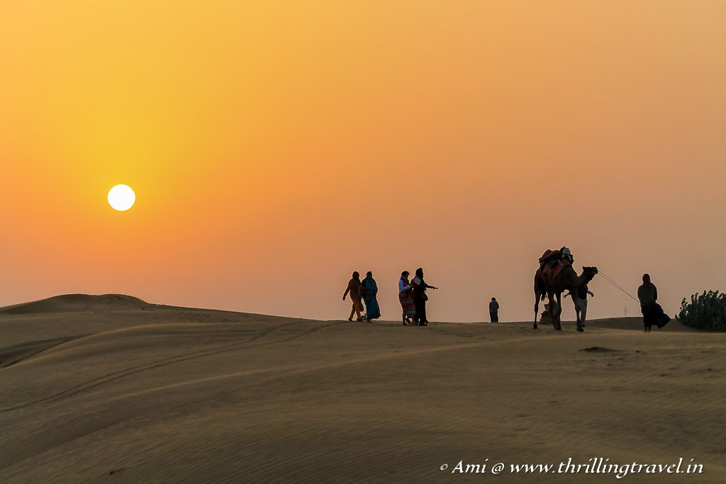 Experience Sunrise in the desert - one of the recommended things to do in Jaisalmer