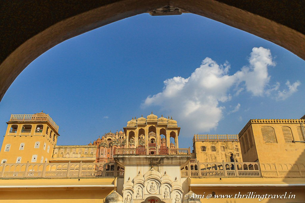 The first glimpse of the insides of Hawa Mahal and its 5 floors
