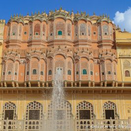 Behind the front facade - View of the interiors of Hawa Mahal