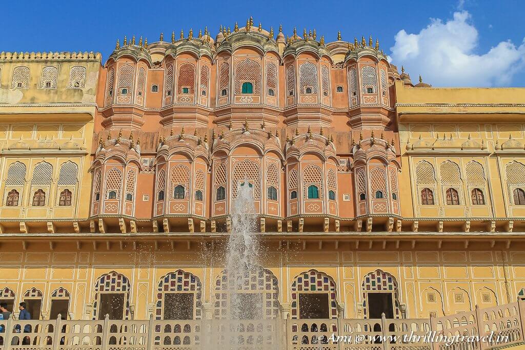 Behind the front facade - View of the interiors of Hawa Mahal