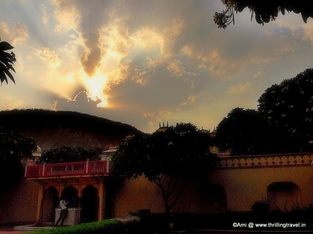 Sunset at Sisodia Rani Bagh