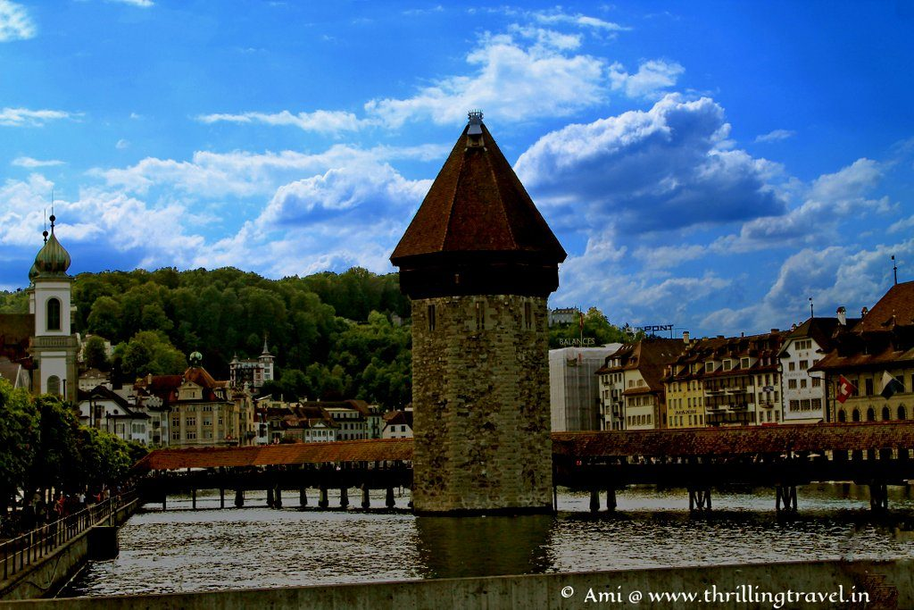The water tank near Chapel Bridge of Lucerne