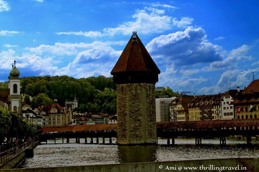 The water tank near Chapel Bridge of Lucerne