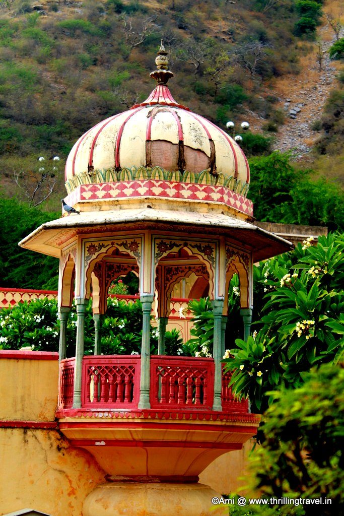 Smaller watch pavilions at Sisodia Rani Bagh
