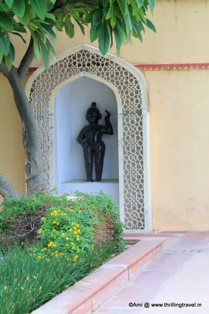 Krishna's statue in Sisodia Rani Bagh