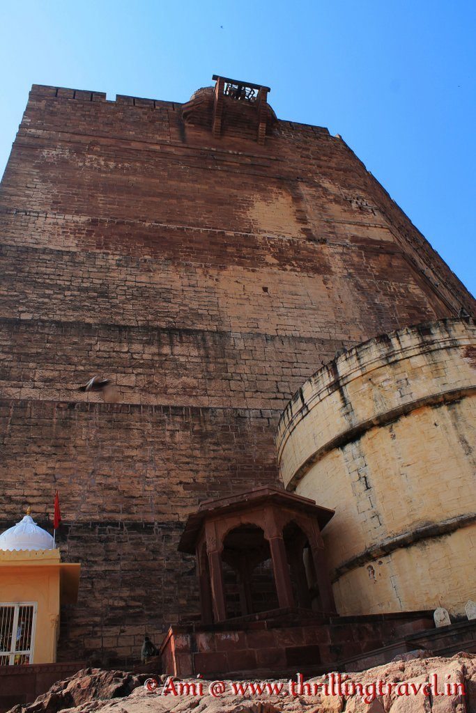 Pulley system at the top of Mehrangarh Fort