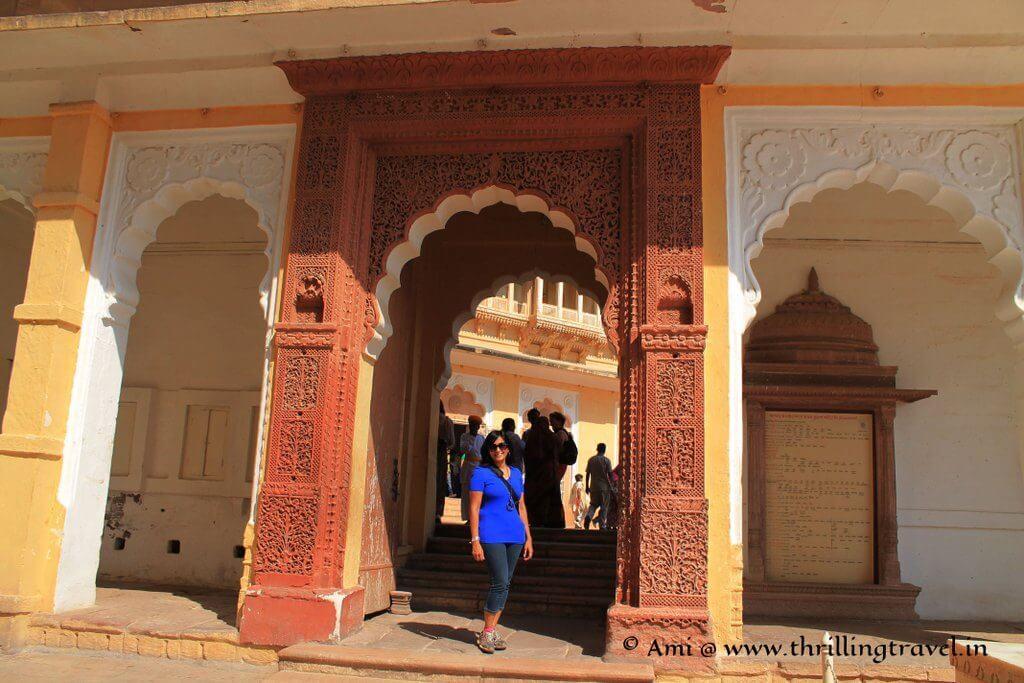 Doorway at Shringar Chowk of Mehrangarh Fort