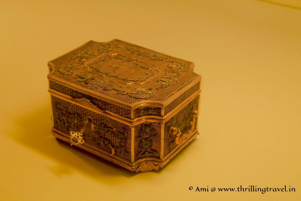 Jewelry Box on display at Daulat Khana of Mehrangarh Fort