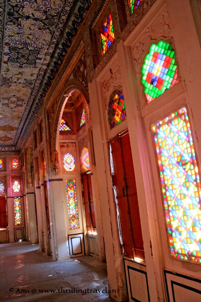 Stained glass corridors of Phool Mahal, Mehrangarh Fort