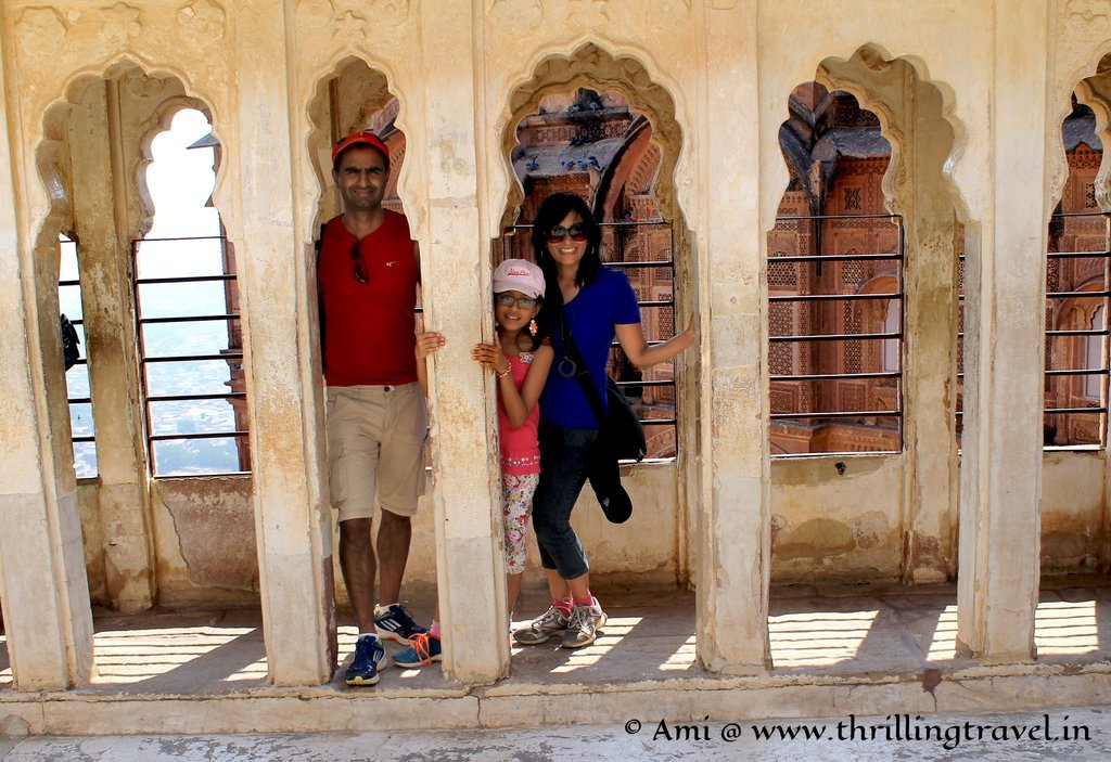 Us at the terrace near Jhanki Mahal, Mehrangarh Fort