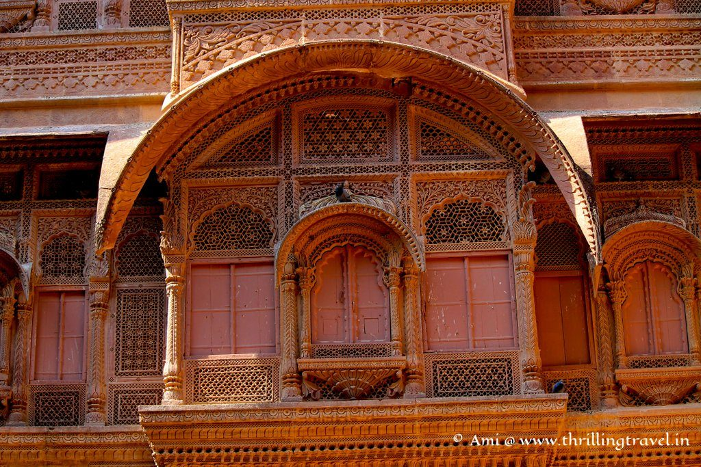 One of the windows in the Zenana Deodi at Mehrangarh Fort