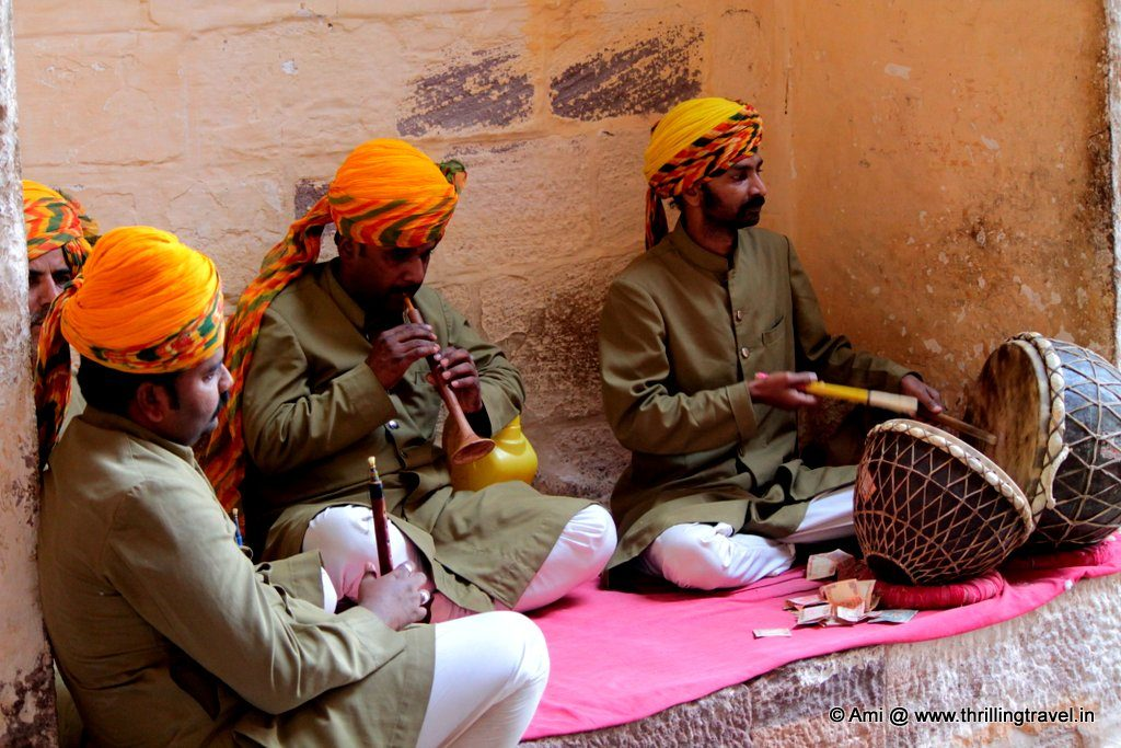 Musicians at Loha Gate, Mehrangarh Fort