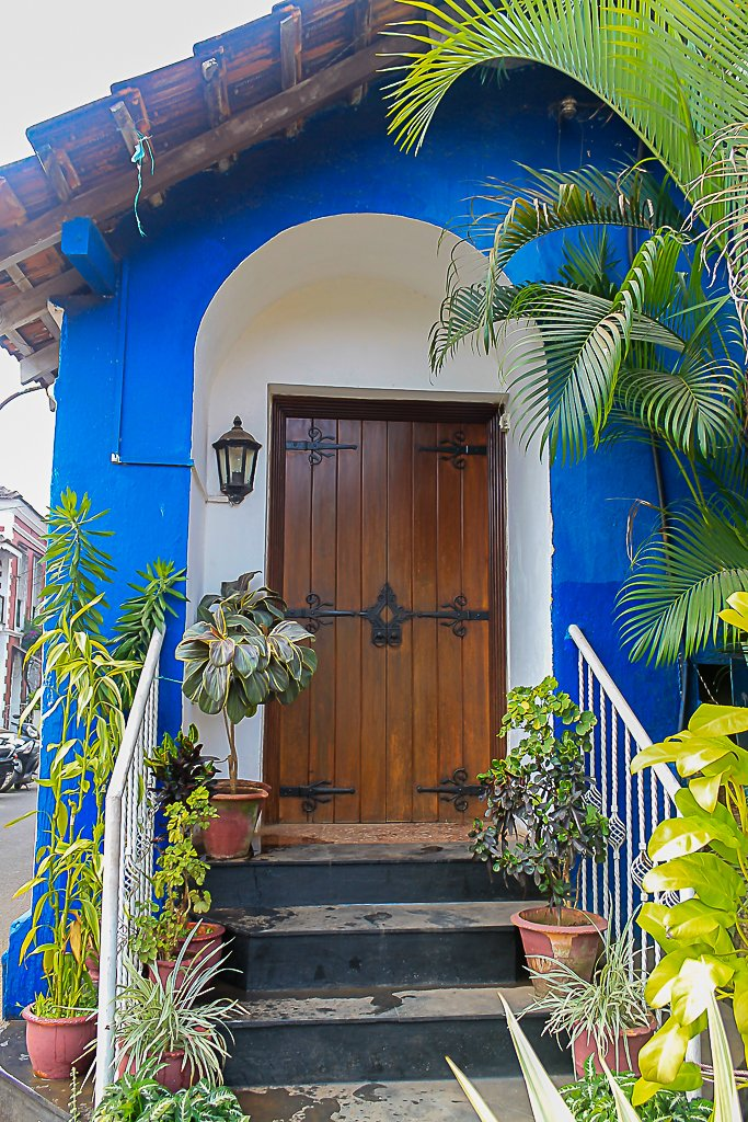 Simple but pretty door of a Goan home