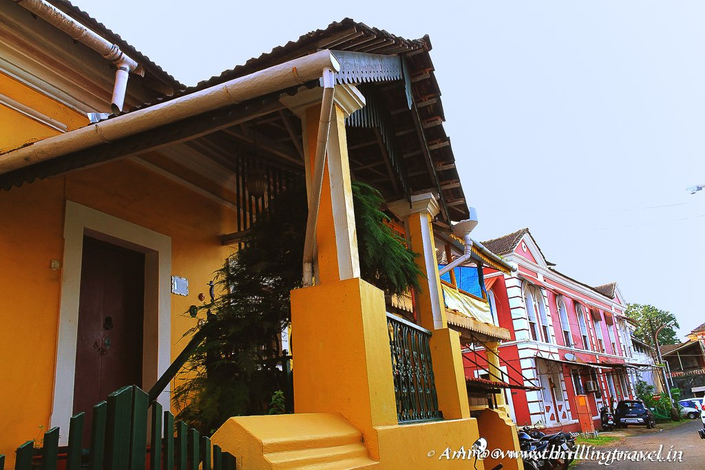 One of the colorful Goan heritage home in Fontainhas