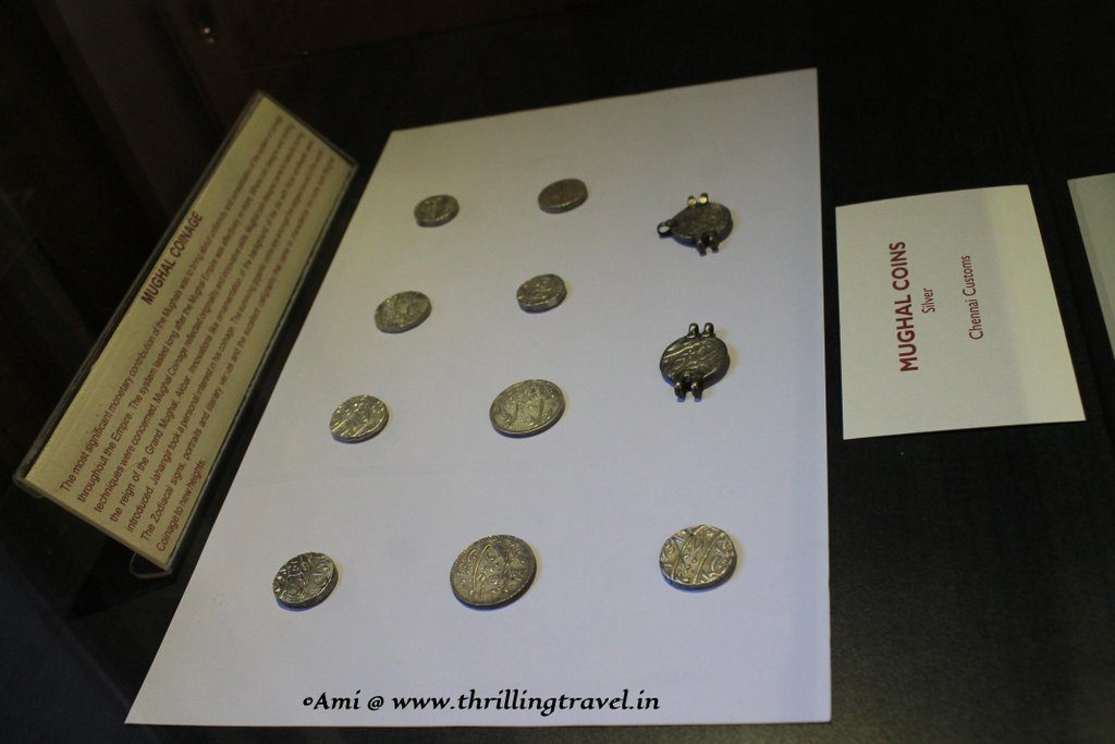 Coins from the Mughal Era at the Indian Customs and Central Excise Museum