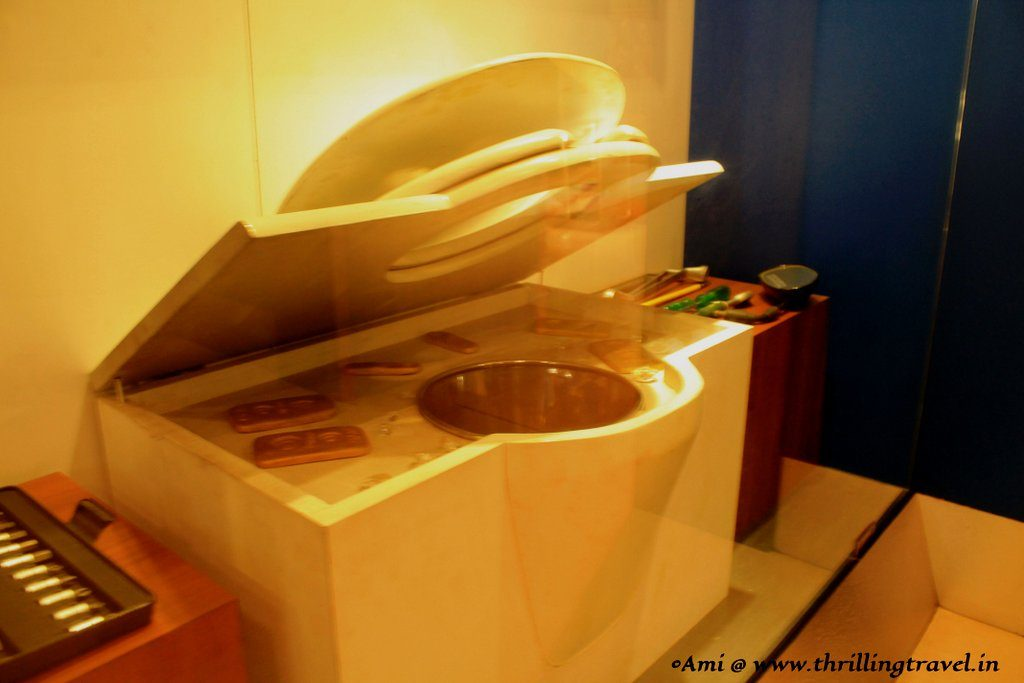 Gold bars hidden in the lavatory of a ship - Indian Customs and Central Excise Museum