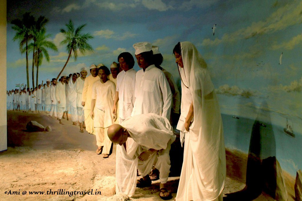 Representation of the Dandi March by Mahatma Gandhi at the Indian Customs and Central Excise Museum, Goa